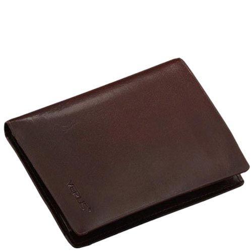 Небольшое горизонтальное портмоне Verus Mil из гладкой кожи с фирменным тиснением, фото