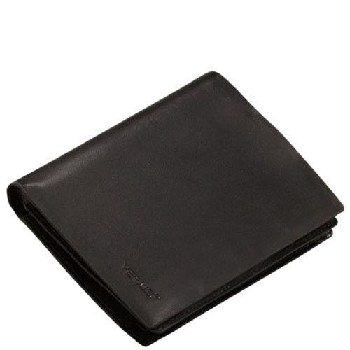 Черное тонкое портмоне Verus Mil с множеством отсеков из гладкой кожи, фото