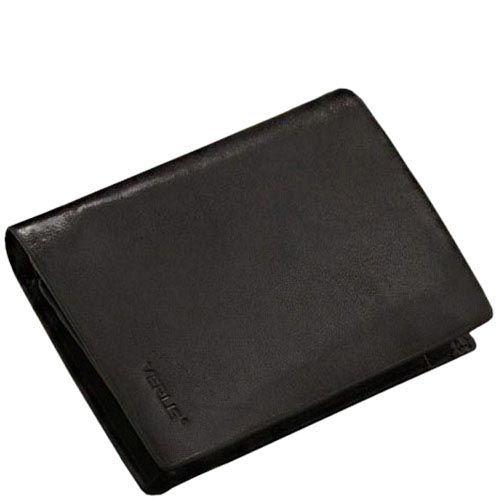 Небольшой вместительный кошелек Verus Mil из черной гладкой кожи, фото