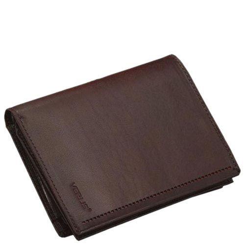 Тонкое коричневое портмоне из гладкой кожи Verus Mon с множеством отделений и карманов, фото