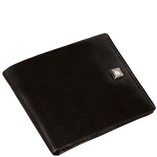 Аккуратное черное портмоне Verus Paris из натуральной кожи, фото