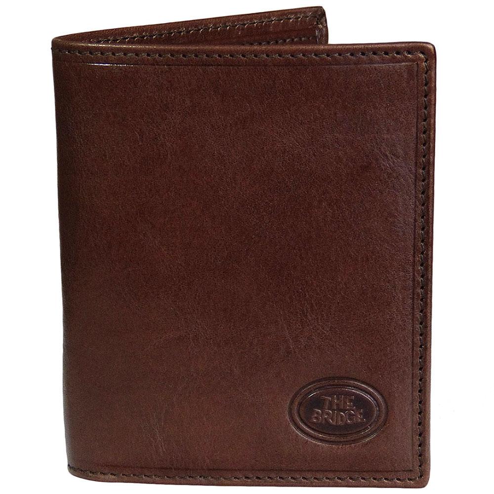 Вертикальный футляр для кредитных карт The Bridge Story Uomo коричневый