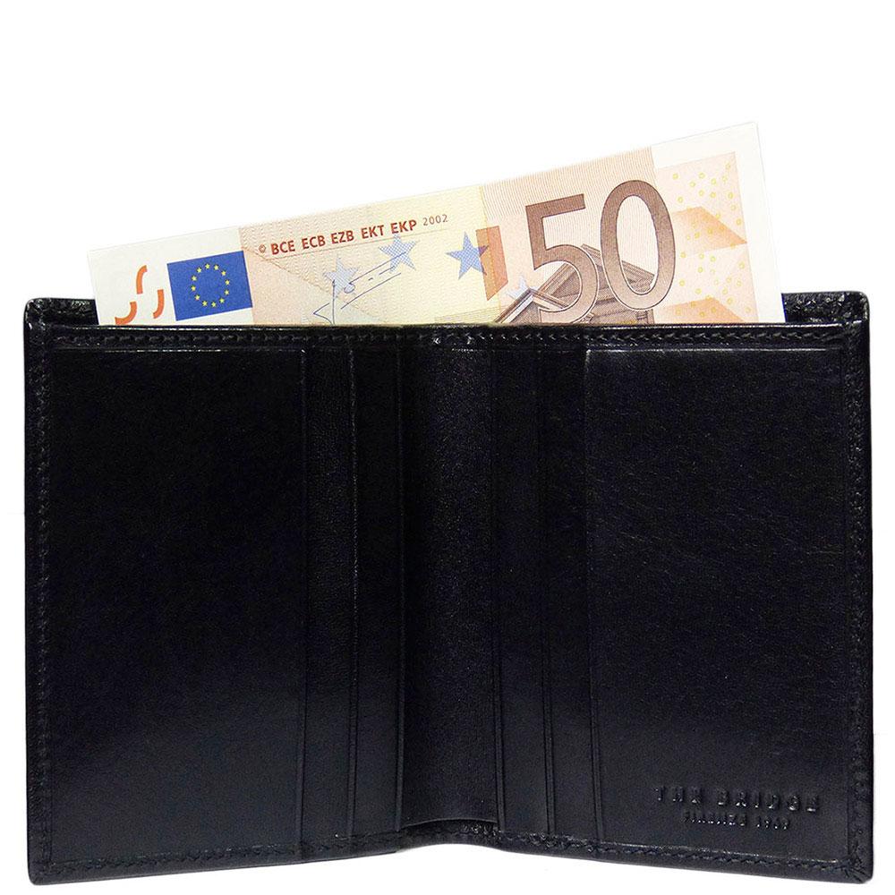 Вертикальный футляр для кредитных карт The Bridge Story Uomo черный