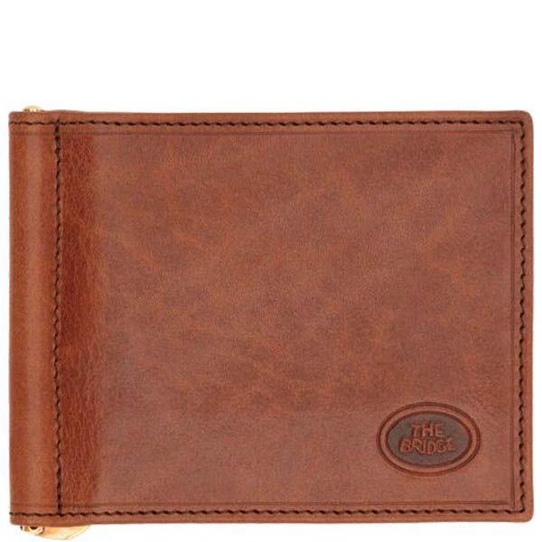 Портмоне с зажимом для банкнот The Bridge Story Uomo коричневого цвета