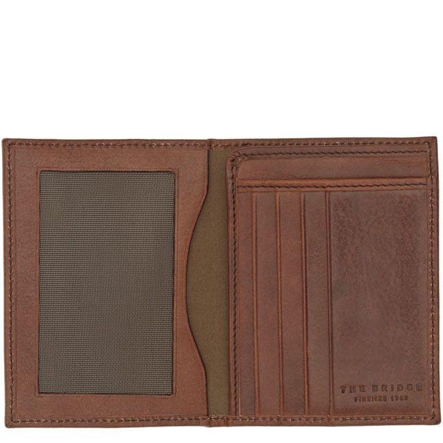 Бумажник The Bridge Story Uomo коричневого цвета вертикальное с отделением для документов