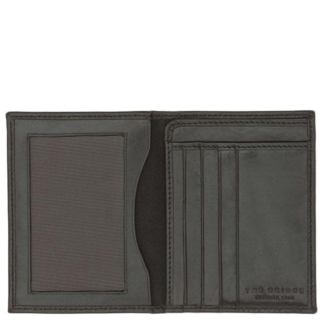 Бумажник черного цвета The Bridge Story Uomo вертикальное с отделением для документов