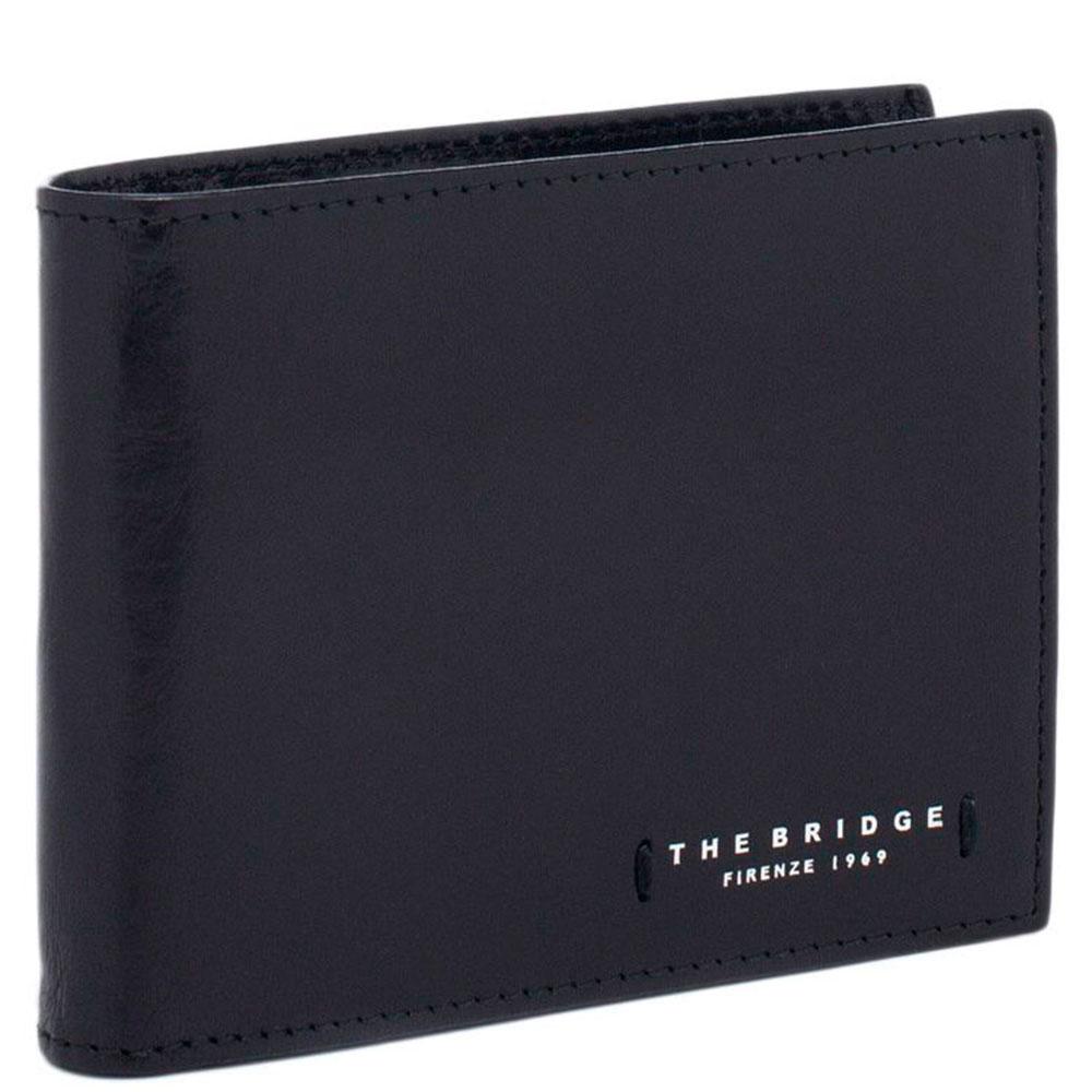 Портмоне мужское с карманом для монет на молнии The Bridge Passpartout Uomo   черного цвета