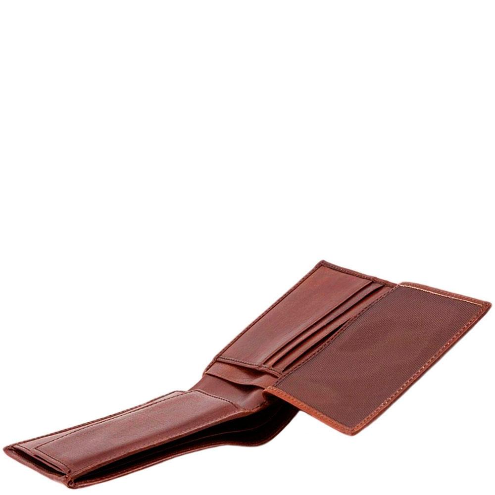 Портмоне The Bridge Story Uomo коричневого цвета из гладкой кожи