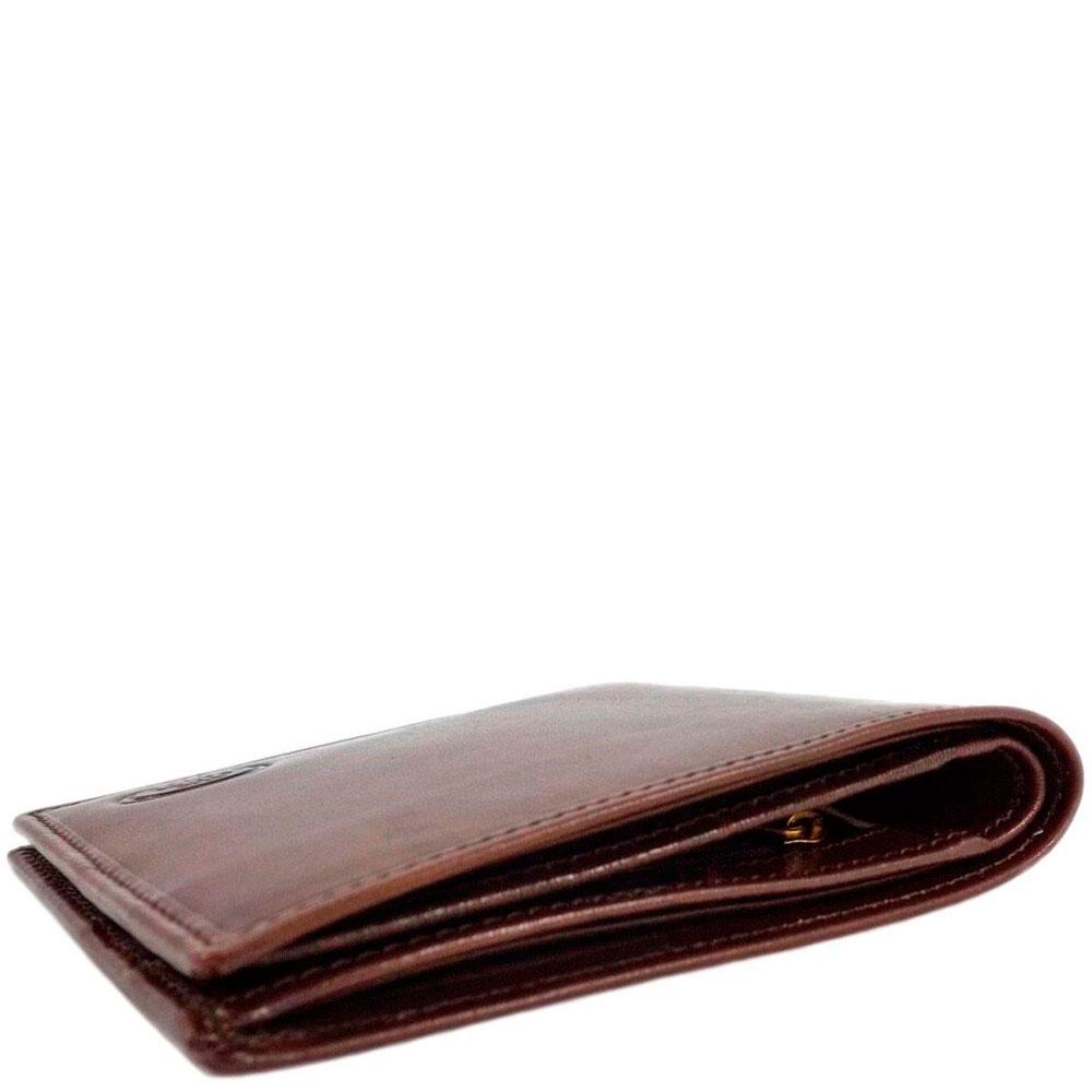 Портмоне мужское с карманом для монет на молнии The Bridge Story Uomo коричневого цвета