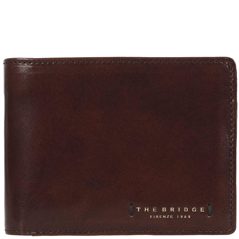 Кожаное портмоне The Bridge Passpartout Uomo коричневое