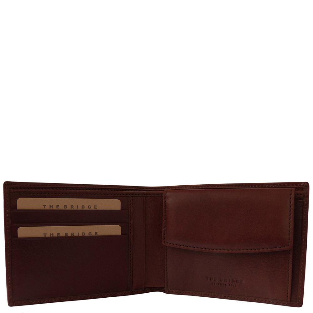 Мужское портмоне The Bridge Fitzroy коричневого цвета