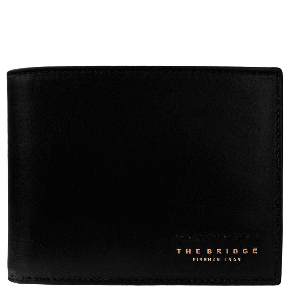 Портмоне мужское с карманом для монет The Bridge Fitzroy черного цвета