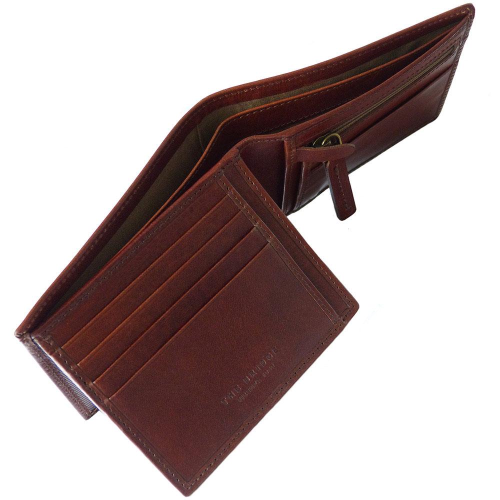 Портмоне кожаное The Bridge Fitzroy коричневого цвета