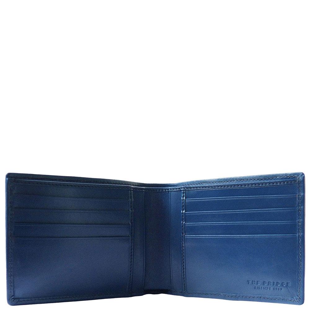 Портмоне кожаное The Bridge Hydro синего цвета