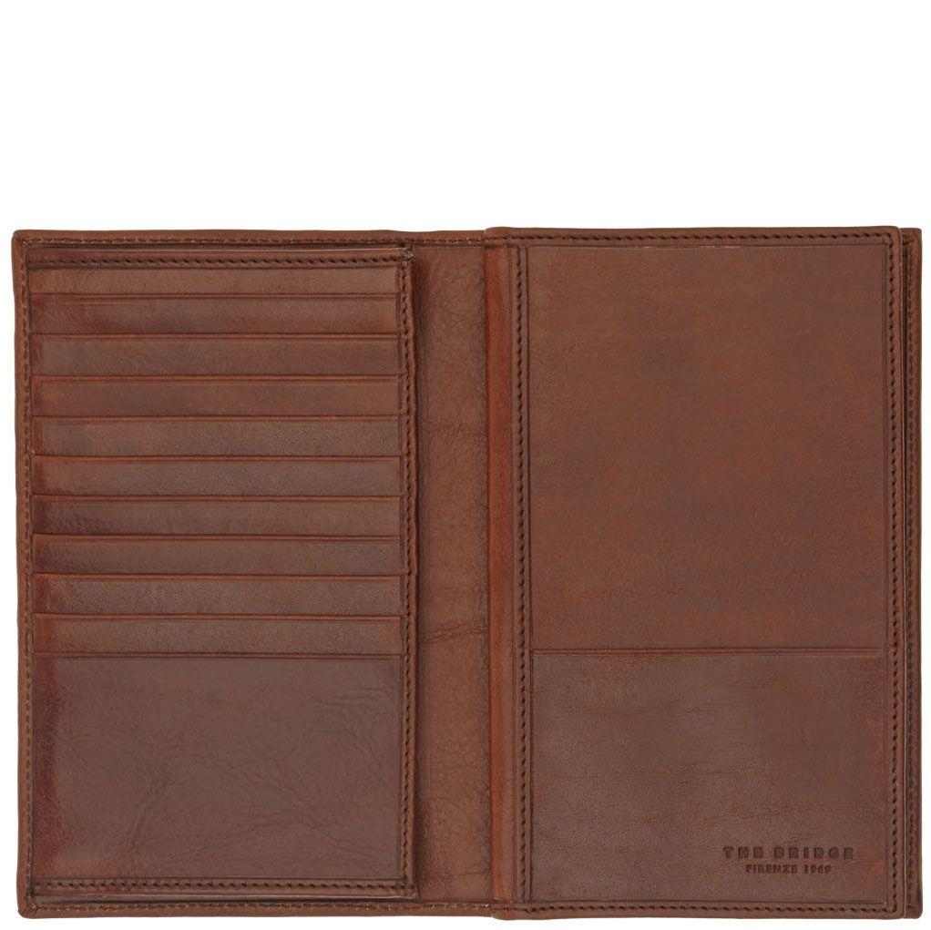 Бумажник The Bridge Story Uomo из натуральной кожи коричневого цвета