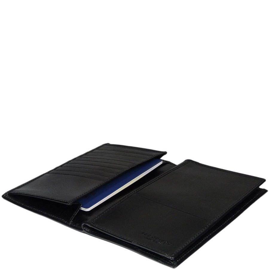 Бумажник The Bridge Story Uomo черного цвета вертикальный
