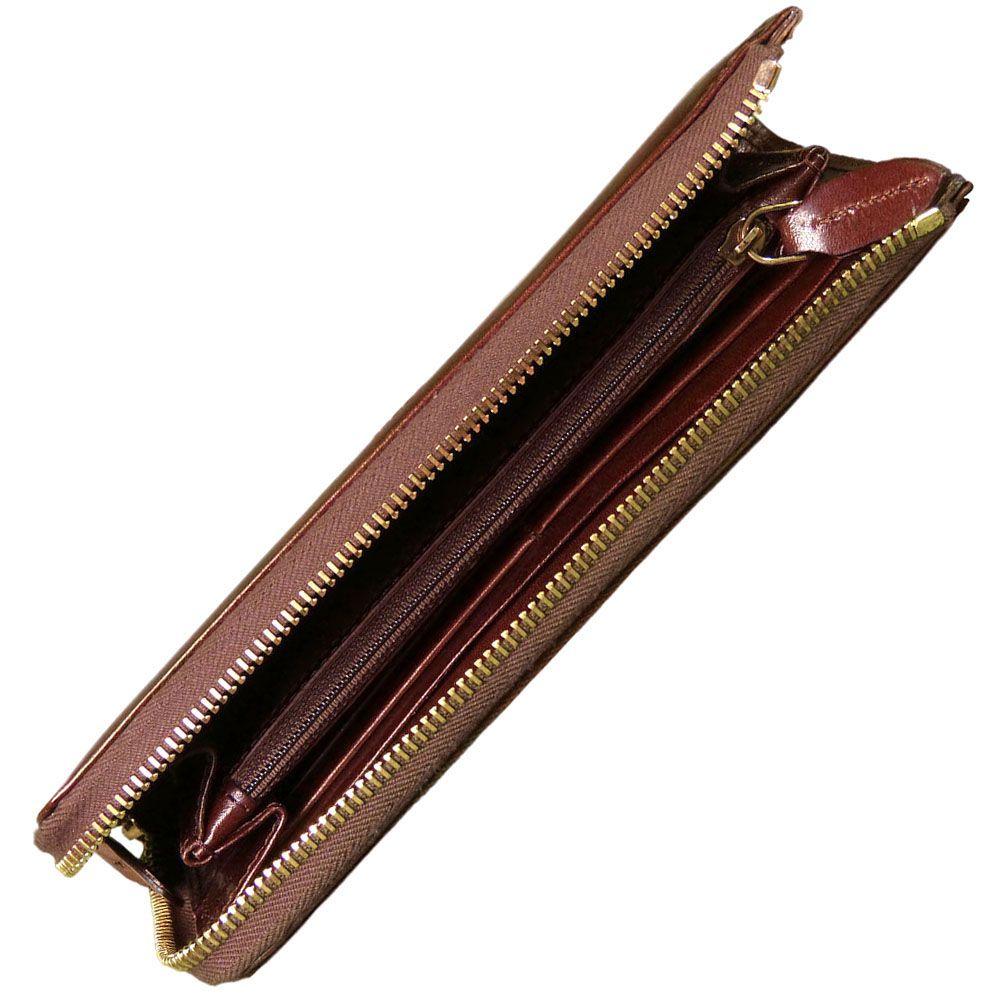 Женское кожаное портмоне The Bridge Story Donna на молнии коричневое