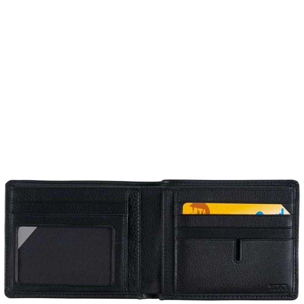 Черное портмоне Tumi Nassau из зернистой кожи