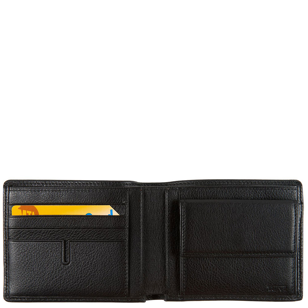 Черное портмоне Tumi Nassau с монетницей