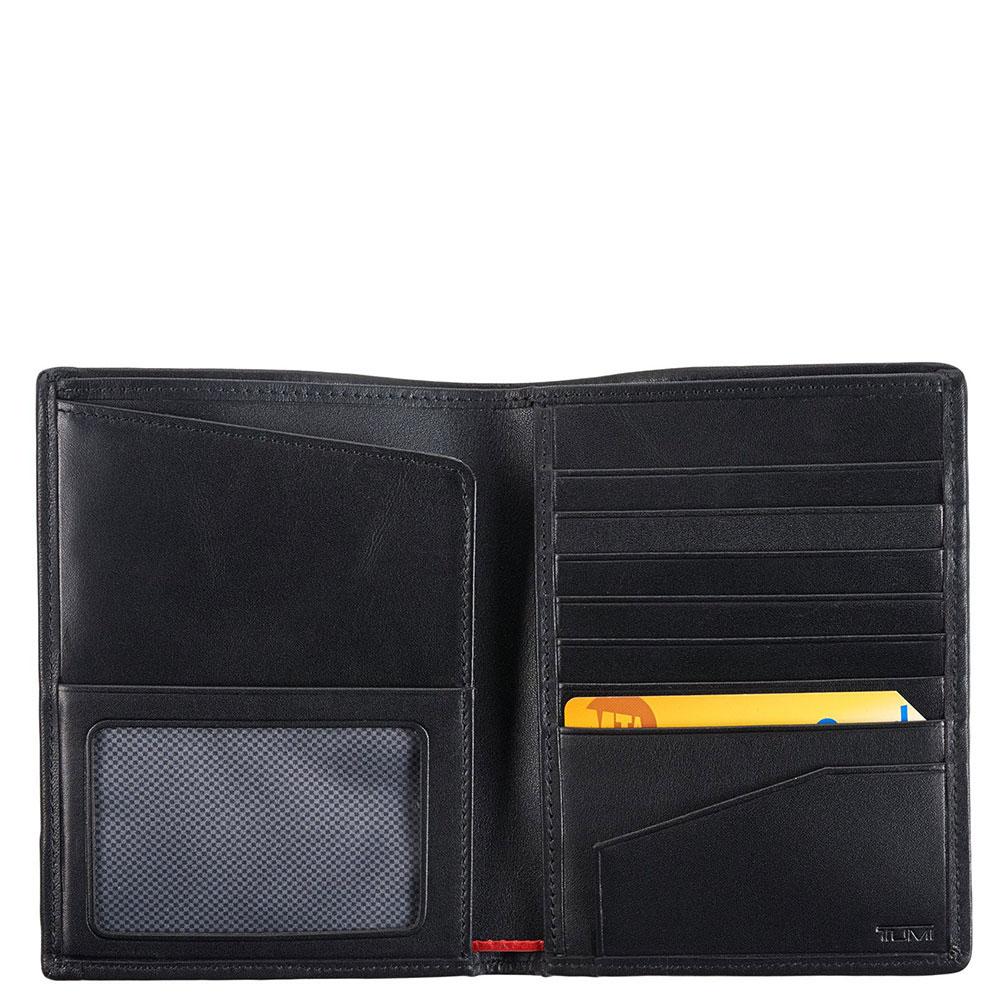 Черное портмоне Tumi Alpha с отделением для документов