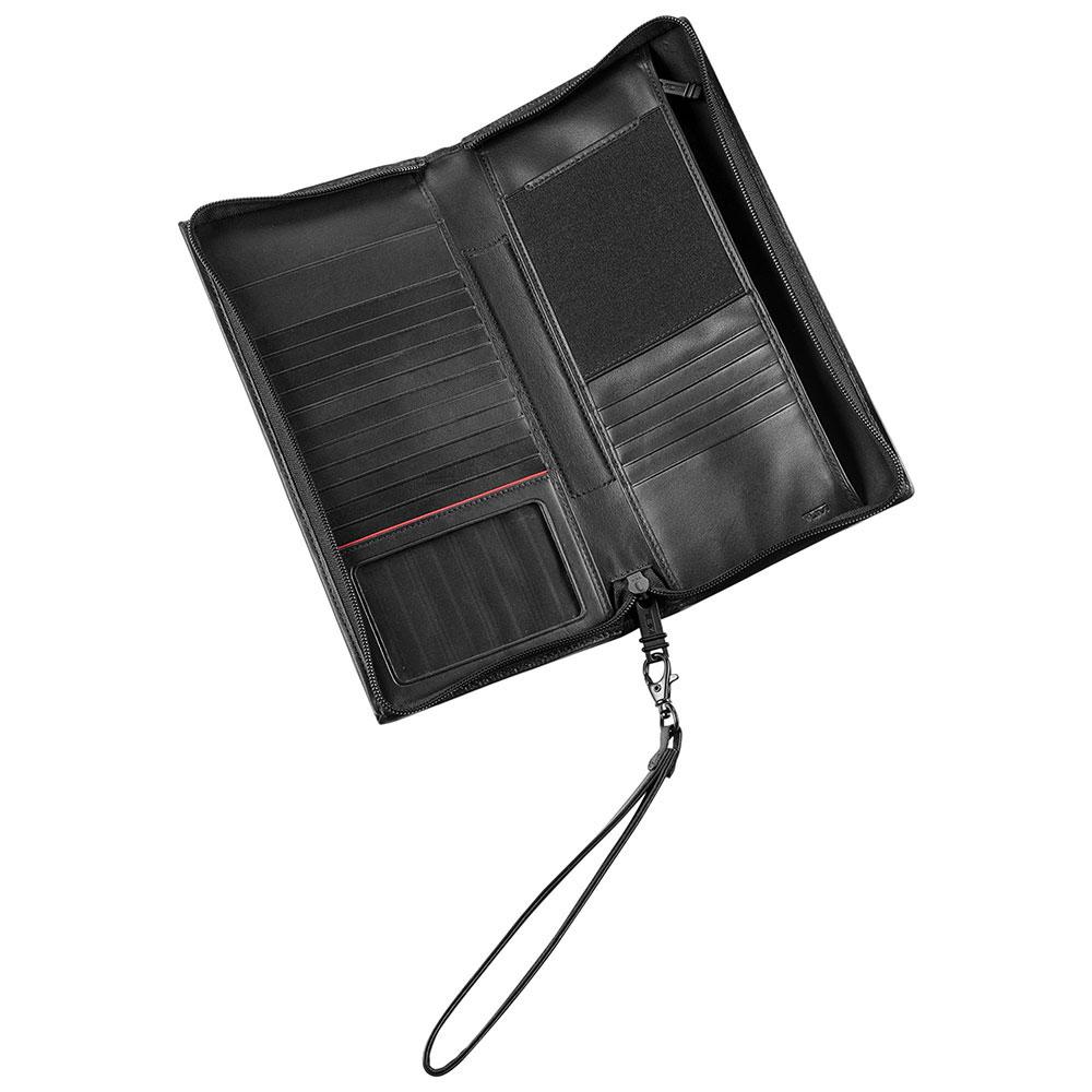 Черное портмоне Tumi Alpha с кистевым ремнем