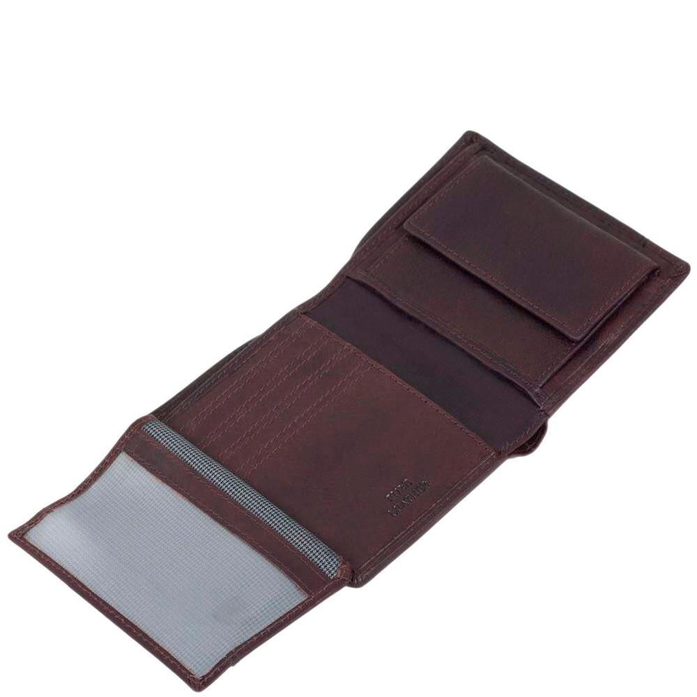 Вертикальное портмоне Spikes&Sparrow из темно-коричневой кожи