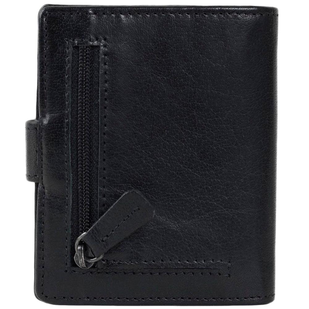 Портмоне Spikes&Sparrow черного цвета с наружным карманом