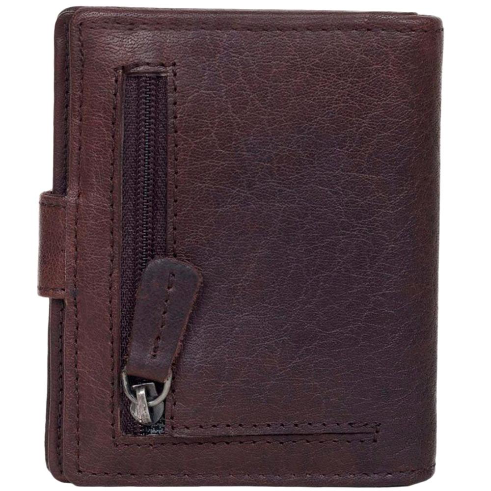 Портмоне Spikes&Sparrow коричневого цвета с наружным карманом