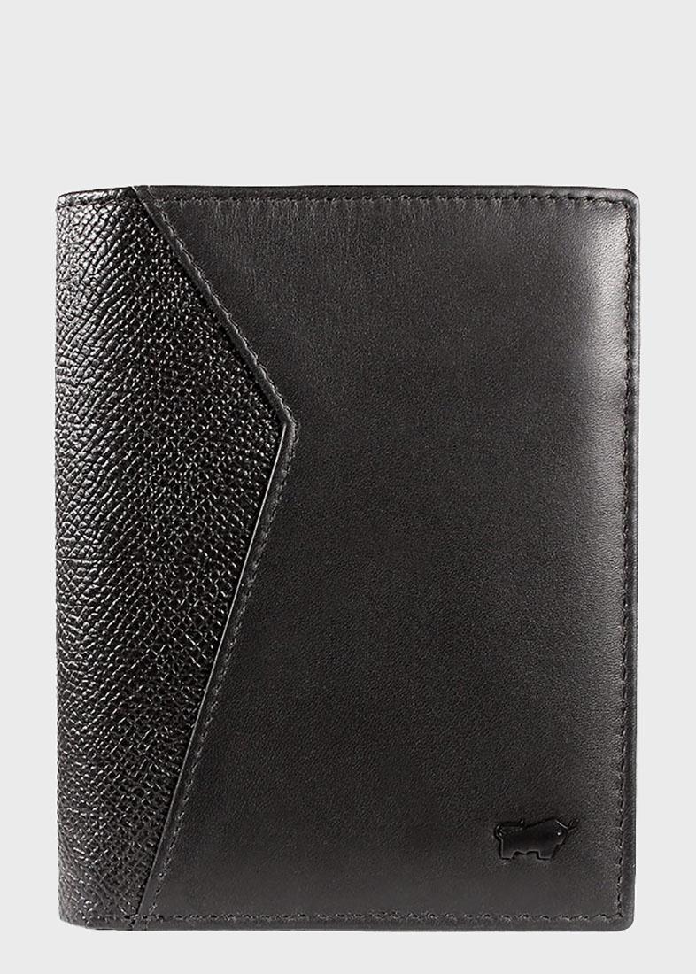 Черное портмоне Braun Bueffel Monza с карманом для монет