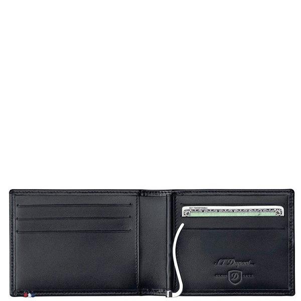 Портмоне S.T.Dupont Ligne D Elysee Black с зажимом для денег