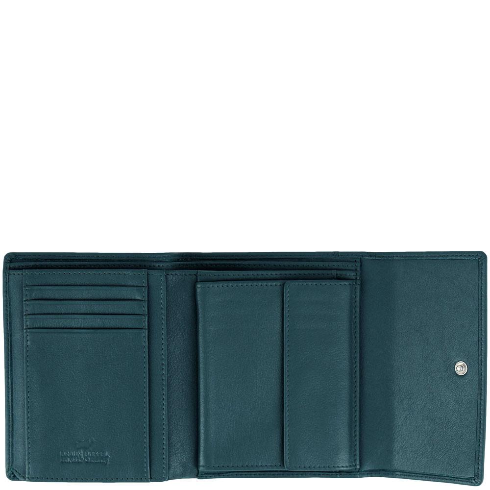 Зеленое портмоне Braun Bueffel Safari с монетницей