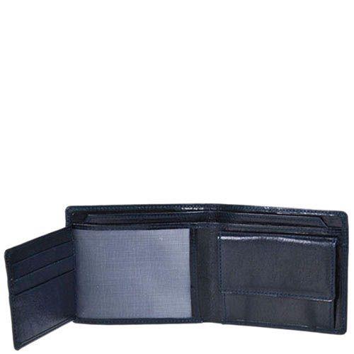 Синее классическое портмоне Giudi Leather из натуральной гладкой кожи