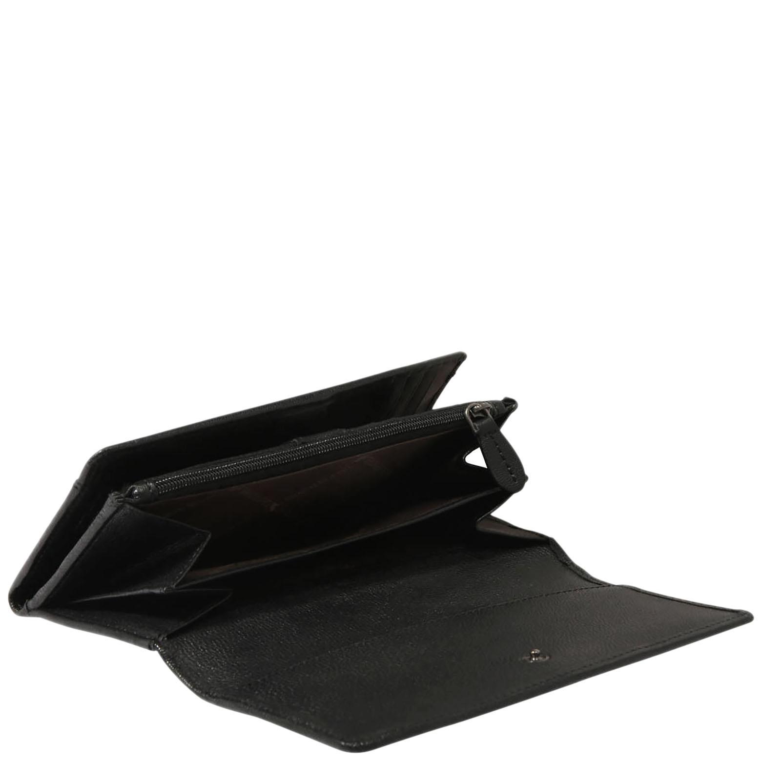 Портмоне черного цвета Braun Bueffel Soave