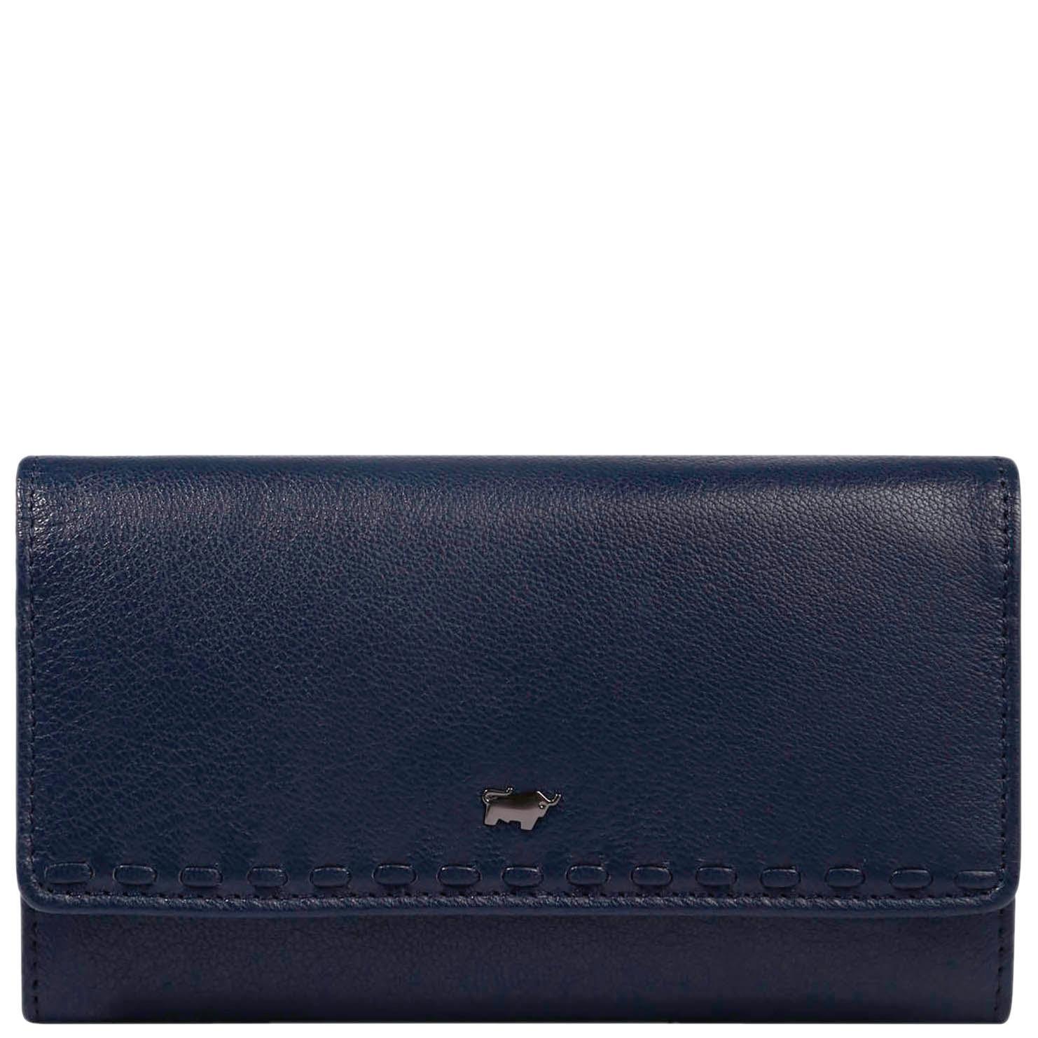 Синий кошелек Braun Bueffel Soave на кнопке