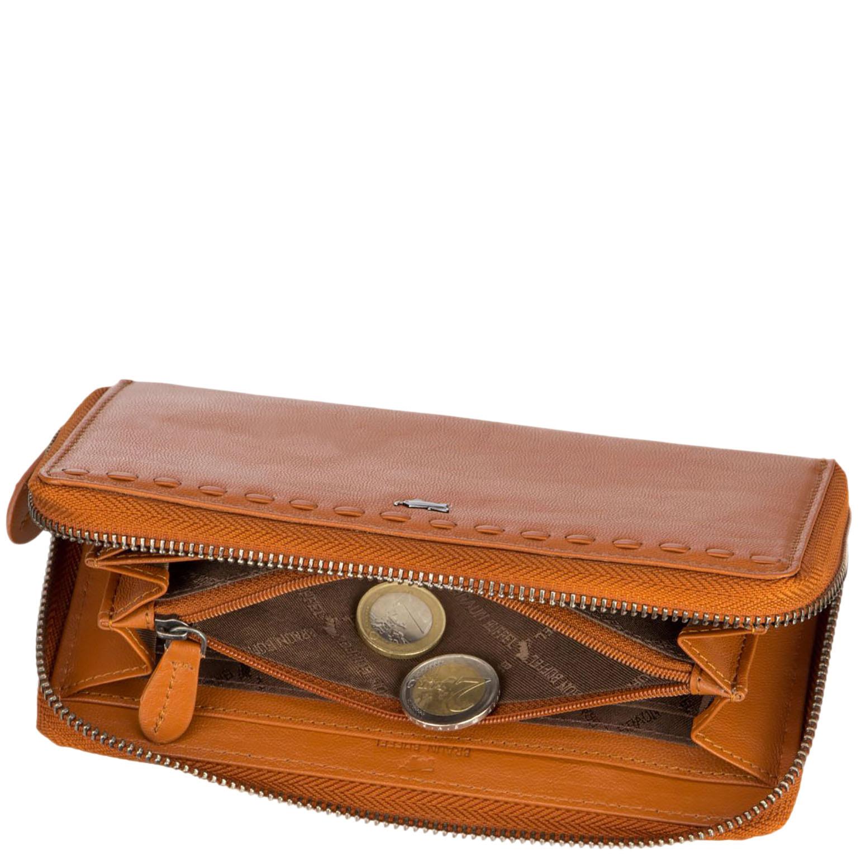 Светло-коричневое портмоне  Braun Bueffel Soave из кожи
