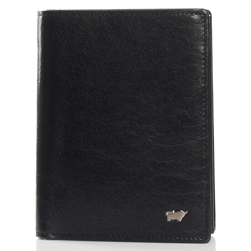 Черное портмоне Braun Bueffel Basic Gaucho с карманом для монет