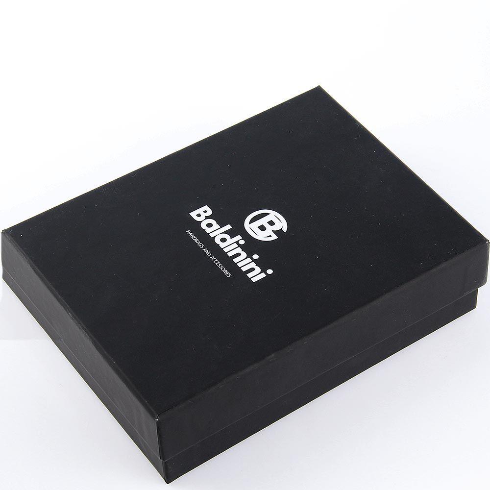 Портмоне Baldinini черного цвета из мелкозернистой кожи