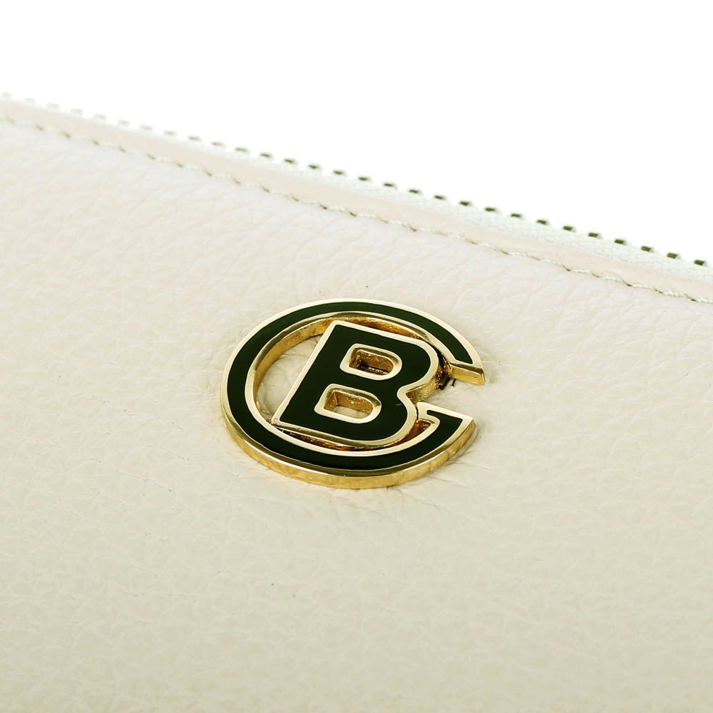 Портмоне Baldinini бежевого цвета на молнии с металлическим логотипом