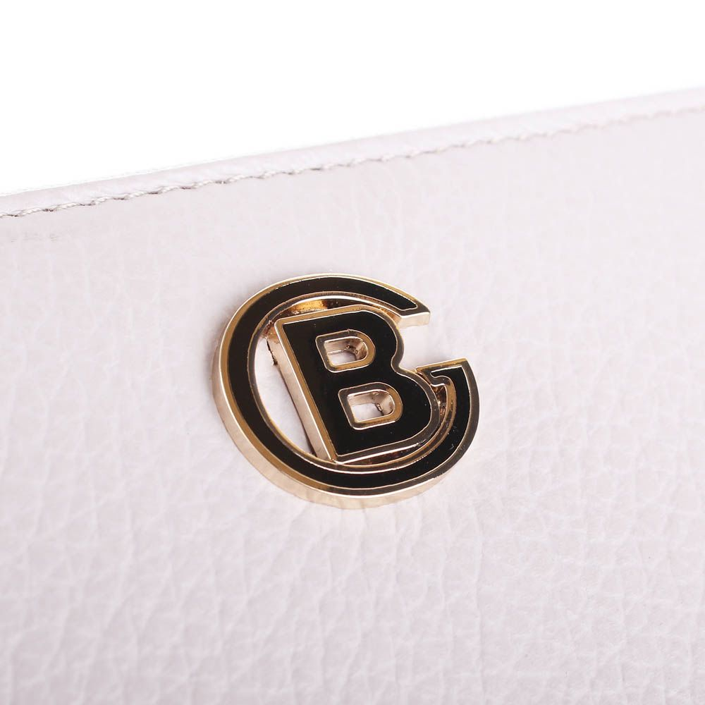 Портмоне Baldinini холодного нежно-розового цвета оттенка на молнии с металлическим логотипом