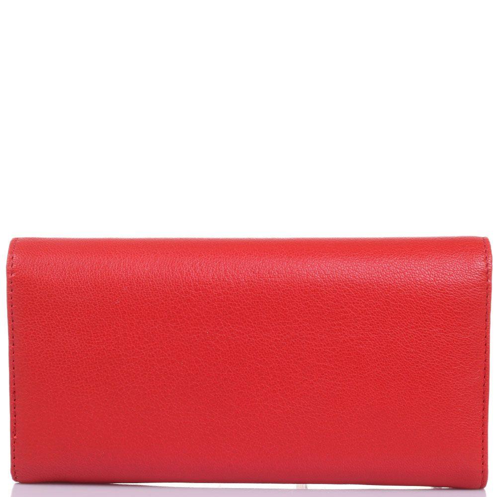 Портмоне Baldinini Adanna красного цвета из мелкозернистой кожи