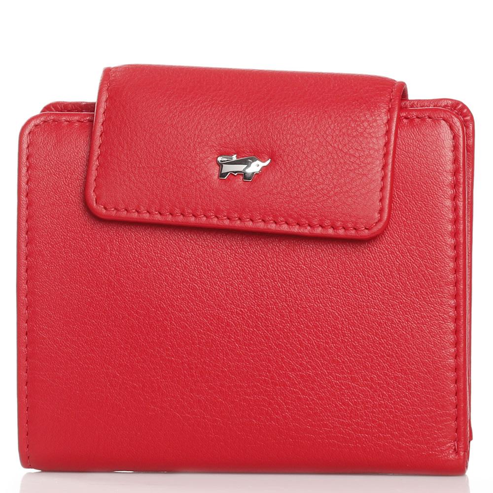 Женский кошелек Braun Bueffel Miami из зернистой кожи красного цвета