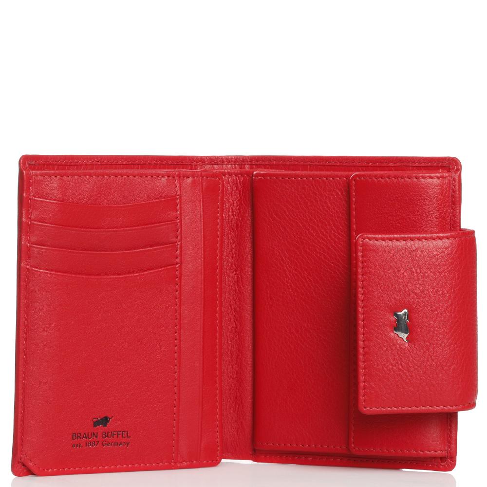 Красный кошелек Braun Bueffel Miami с карманом на молнии