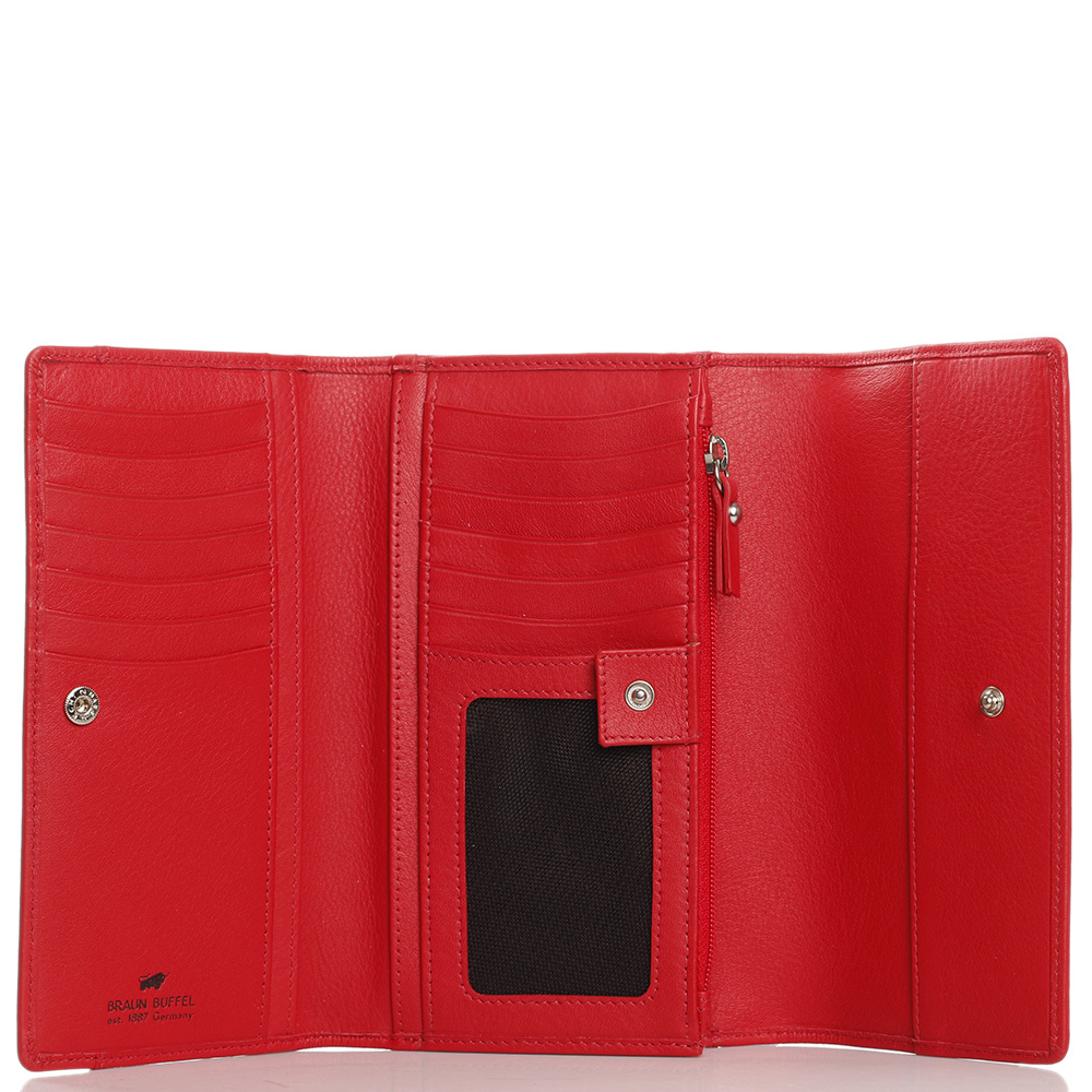 Красный кошелек Braun Bueffel Miami с задним карманом