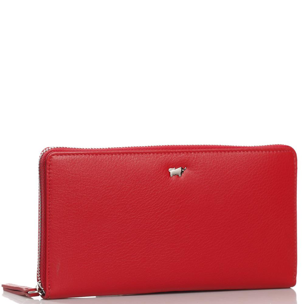 Женский кошелек Braun Bueffel Miami на молнии красного цвета