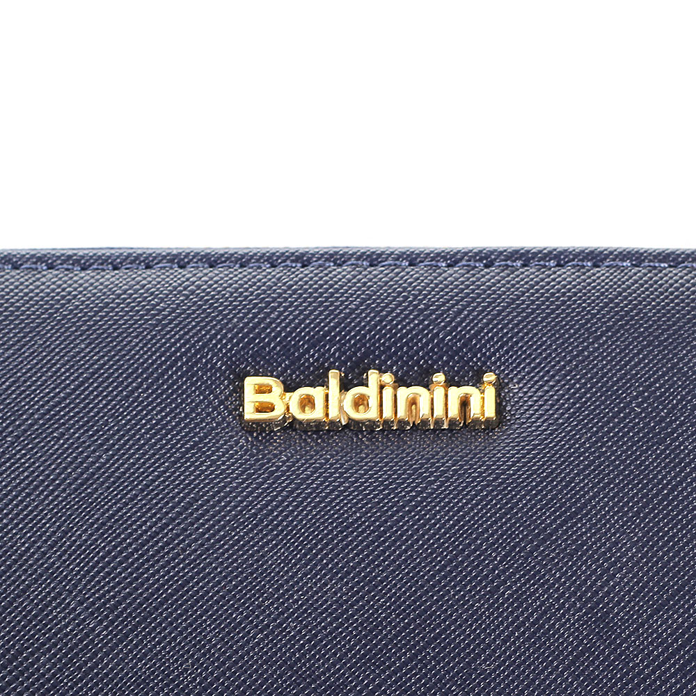 Женский кошелек Baldinini синего цвета на молнии