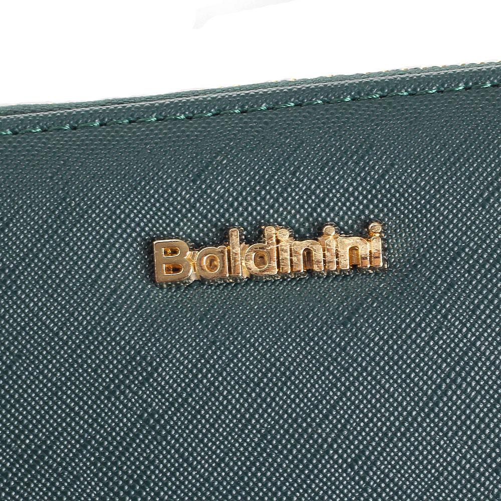 Зеленый кошелек Baldinini с тиснением сафьяно