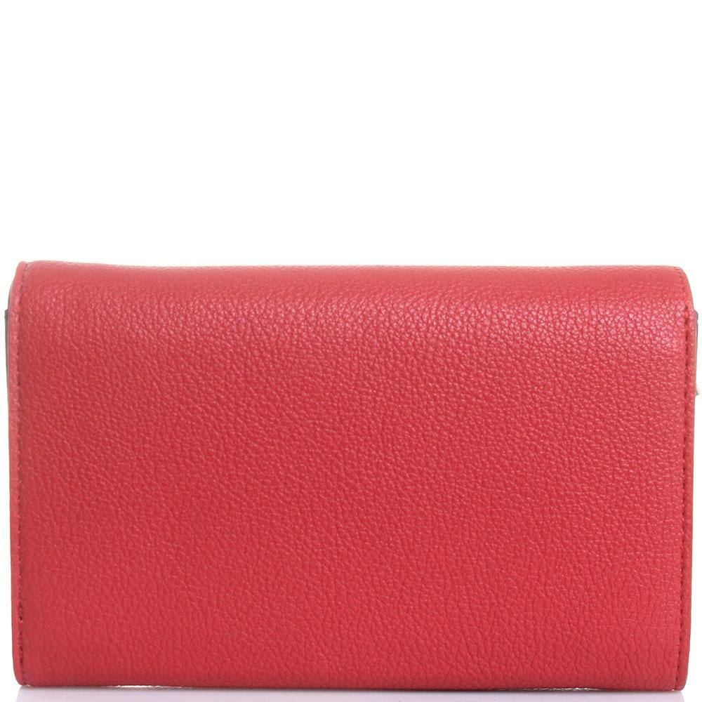 Портмоне Love Moschino красного цвета с декором в виде сердец