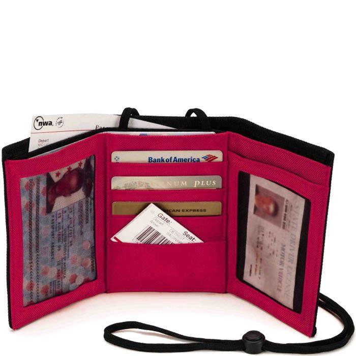 Дорожный кошелек Wenger WE6077R красного цвета