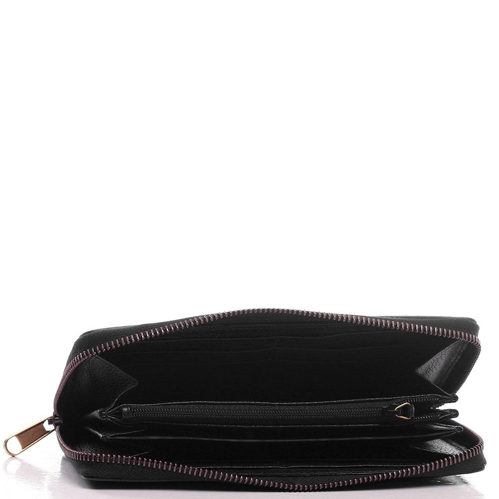 Черный кошелек Gucci Print с лого бренда