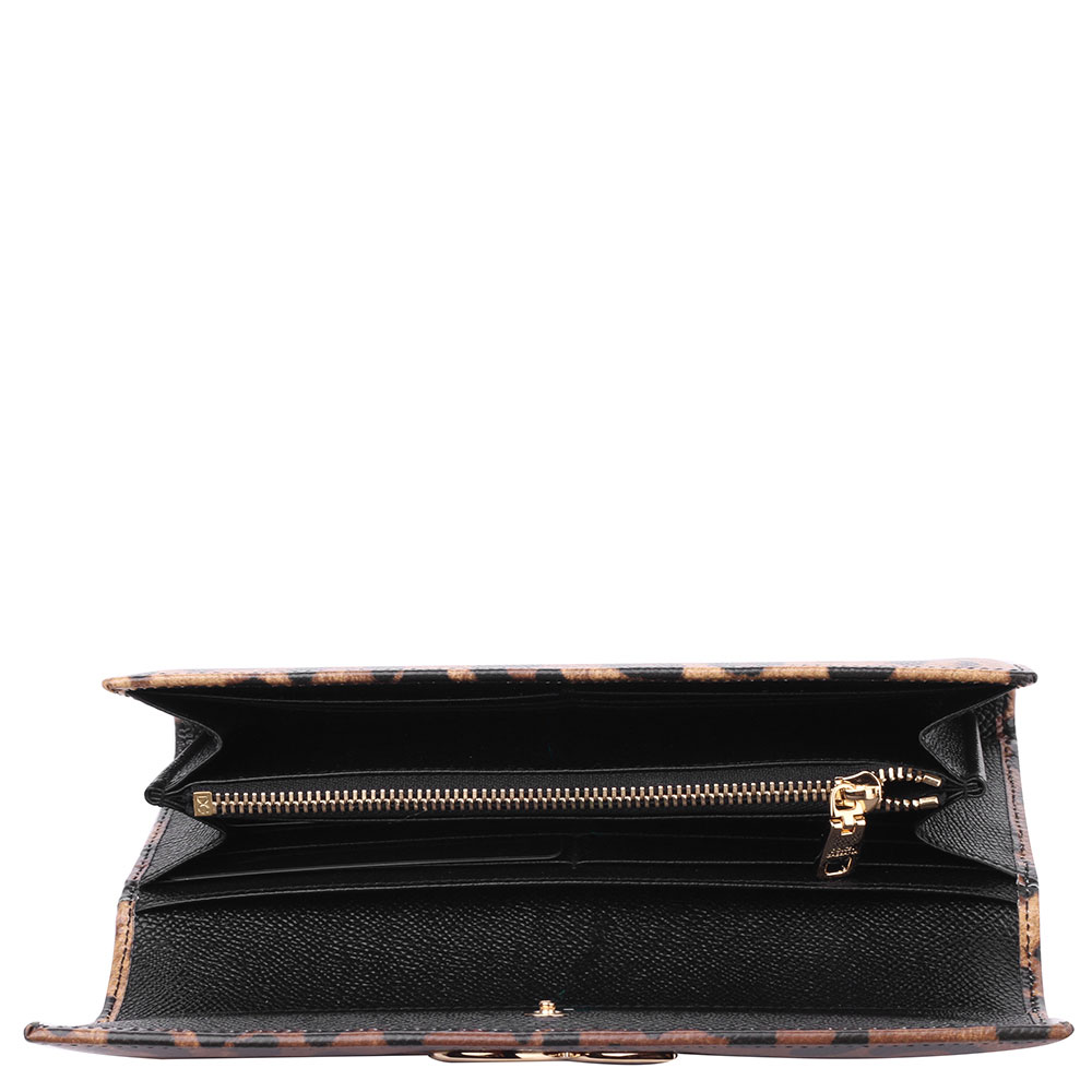 Кожаный кошелек Dolce&Gabbana с животным принтом